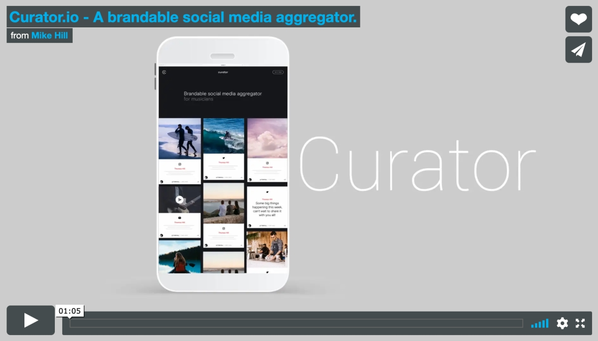 Social Media Aggregator For Websites And Events Curatorio